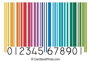 streepjescode, gekleurde