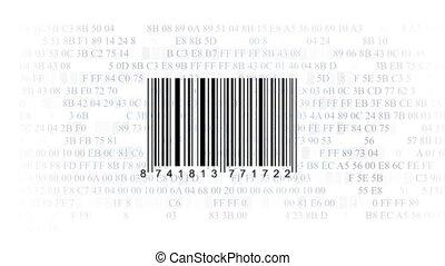 streepjescode, scanner, door, barcode lezer, o