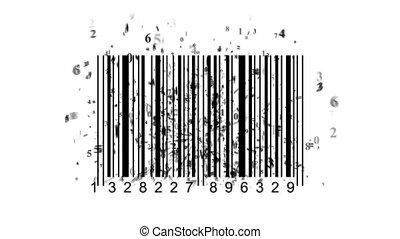streepjescode, scanner, door, streepjescode, reader.