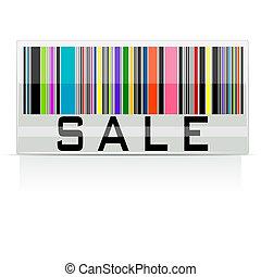 streepjescode, verkoop, kleurrijke