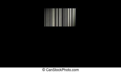 streepjescode, zoals, een, venster, en, voorbijgaand, licht