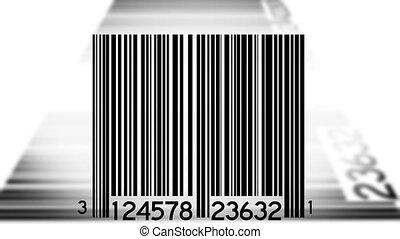streepjescodes, afgetaste, achtergrond, twee
