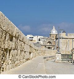 Street along the wall