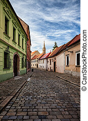 Street and Houses in Bratislava Old Town