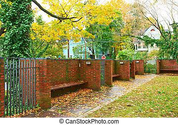 Street and yard at Cambridge
