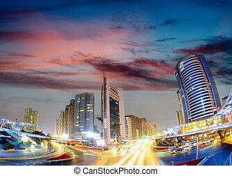 Street at night - Street in city at night