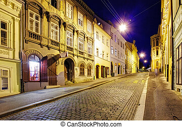Street at night, Zagreb
