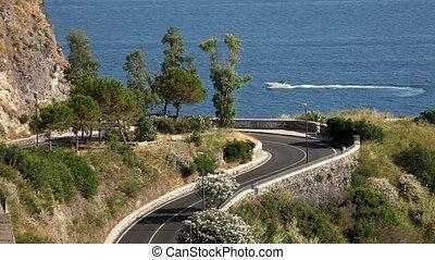 Street At Ocean, Ischia, Italy