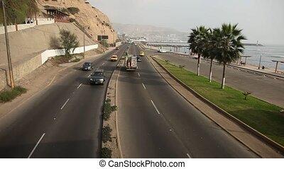 Street at Ocean, Lima - Lima, Skyline and Street
