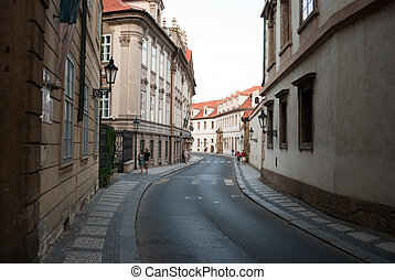 street at old town in the prague
