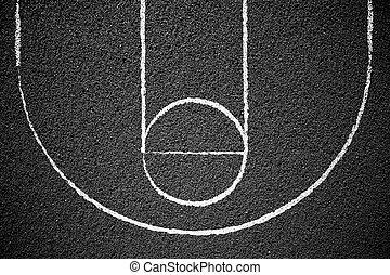 Street Basketball Court - Stree basketball court background...