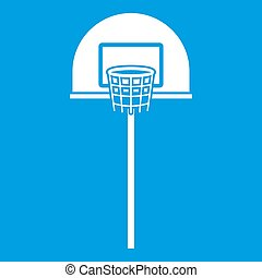 Street basketball hoop icon white