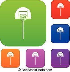 Street basketball hoop set collection
