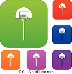 Street basketball hoop set collection