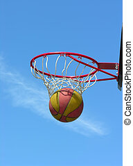 street basketball - the successful moment of street...