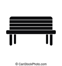 Street bench icon, simple style
