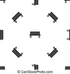 Street bench pattern seamless black