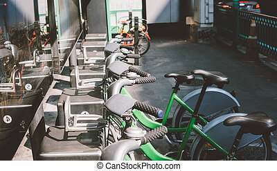 street bike rental consept
