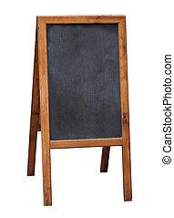 Street black chalkboard