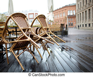 Street cafe in Riga