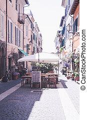 street cafe in Rome