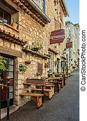 Street cafe in the old town Provence