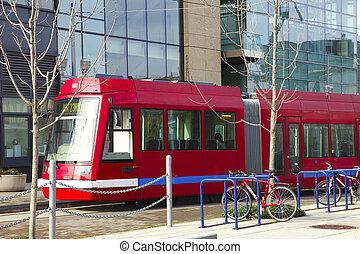 Street car, Portland Oregon. - A downtown Portland service...