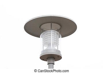 Street Classic Lantern isolated on white background.