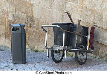 Street cleaner cart