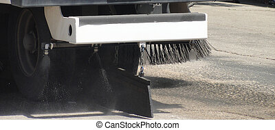 Street cleaner truck.