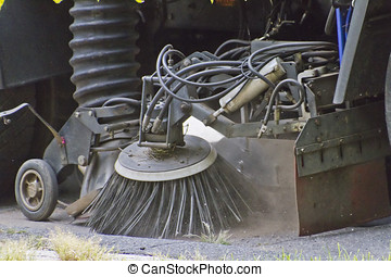 Street Cleaning Truck Close Up