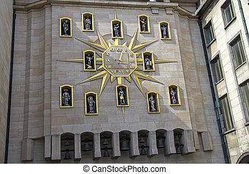 Street clock in Brussels, Belgium. - Unusual and interesting...