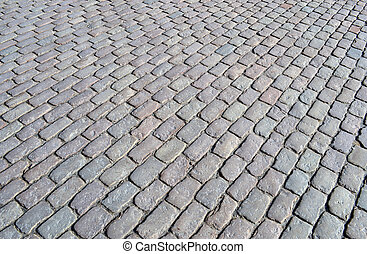 Street cobblestone texture