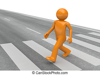 Street collection - Pedestrian crossing - 3d characters...