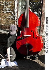 Street Contrabass Player