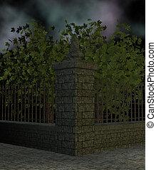 Street Corner - Corner of the street with trees