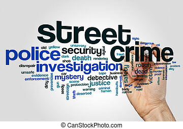 Street crime word cloud