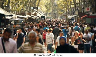 street crowd slowmotion