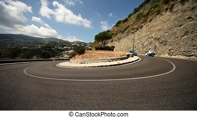 Street, Curve, Mountains - Street, Curve, Ischia, Italy