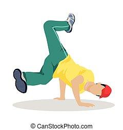 Street Dance Concept Flat Design. Hip Hop, Break.