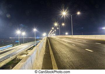 Street Expressway at night