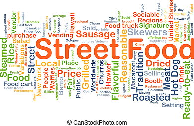 Street food background concept - Background concept...