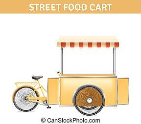 Street Food Cart Illustration