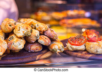 Street food - Close up of Italian street food