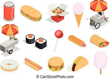 Street Food  Icons Set