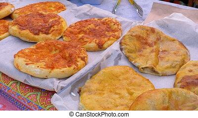 Preparation Pasties, Chebureks or Tortillas with Meat ...