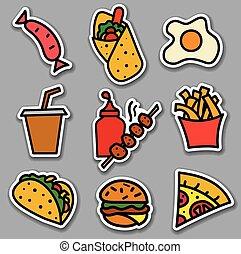 street food stickers