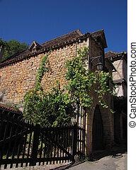 Street, gate, village