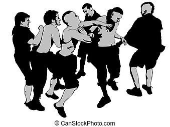 Street hooligans one - Fighting young street hooligans...
