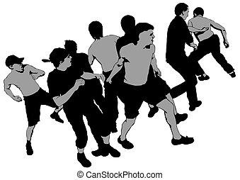 Street hooligans three - Fighting young street hooligans...